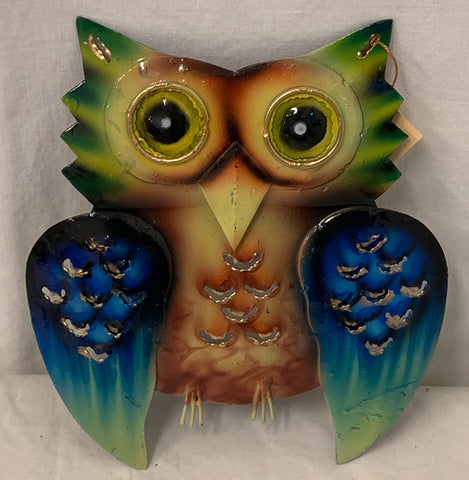 owl - small - iron - 12cm - brown