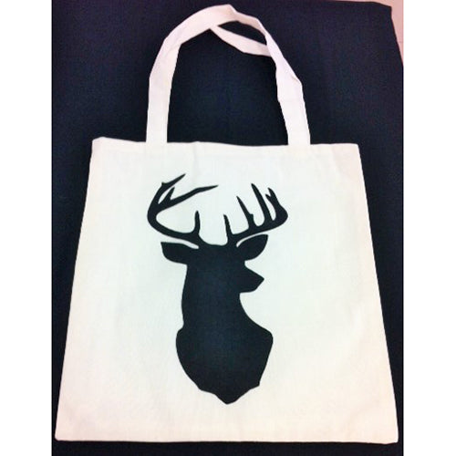 tote bag - Deer Head with Neck
