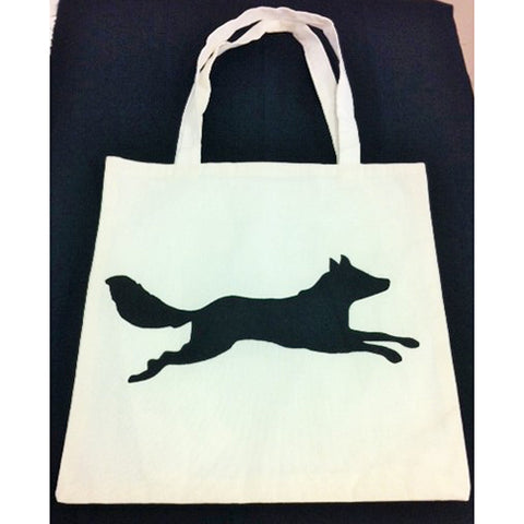 tote bag - Jumping Fox