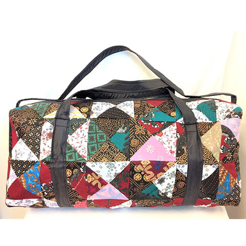 duffle bag - medium - batik - patchwork