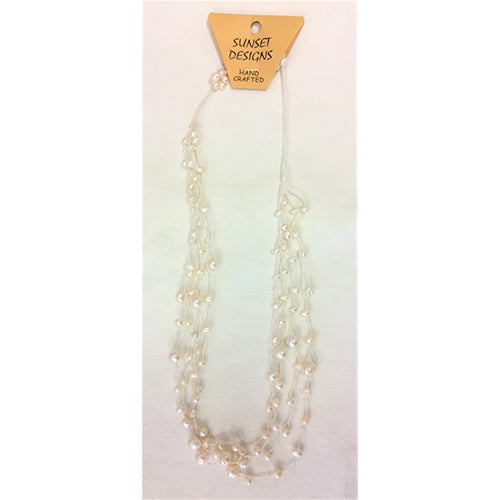 necklace - fresh water pearl - white