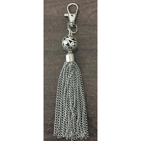 key ring clip -metal ball