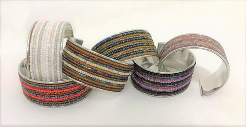 bangle - metal/bead