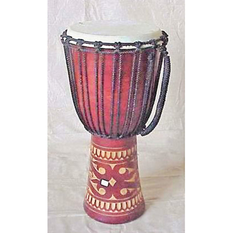 Drum - kalimantan carving - brown - 60 cm