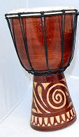 Drum - carved - 30cm
