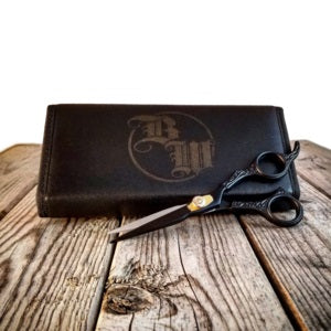 Scissors - Blk Titanium Barber w/case