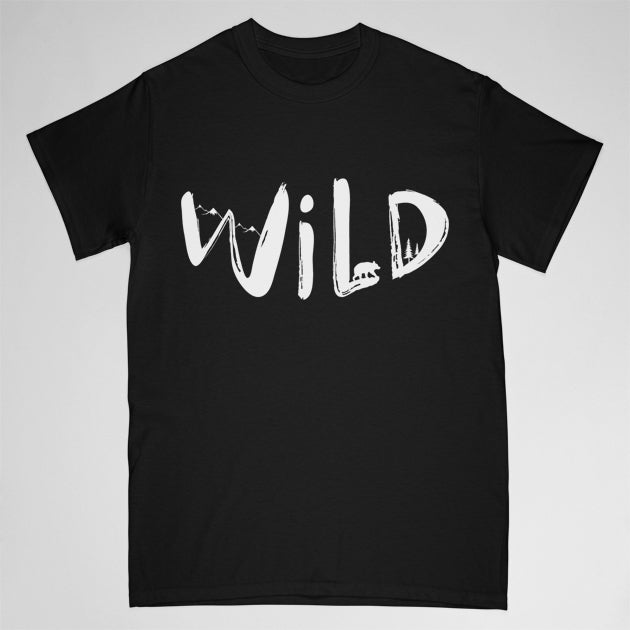 """WILD"" tshirt - black - Adult XL"