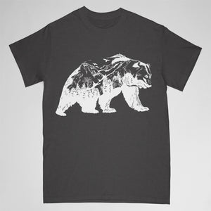 bear tshirt - grey - Adult small