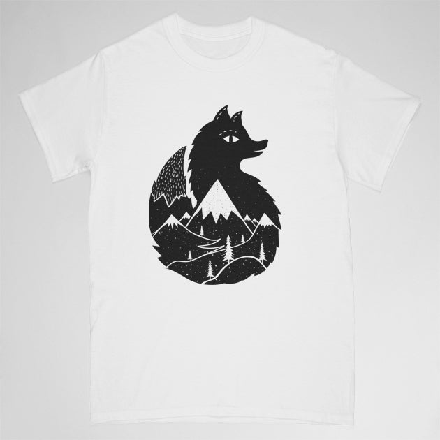 fox tshirt - white - Adult large