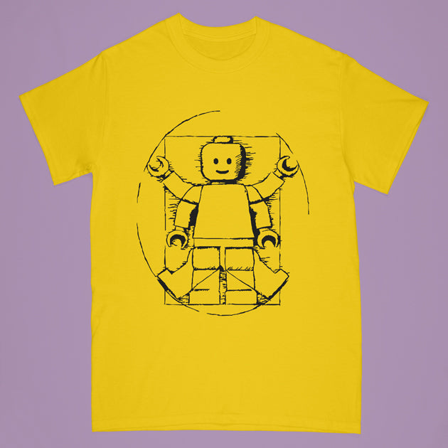 lego tshirt - gold - Adult small