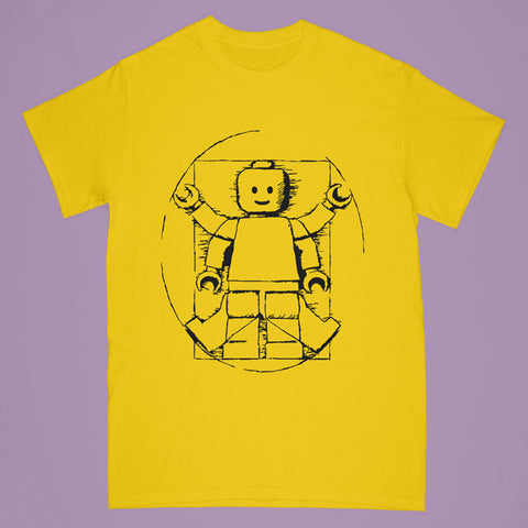 lego tshirt - gold - Adult medium