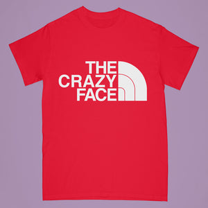 """Crazy Face"" tshirt - red - Adult large"