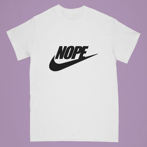 """nope"" tshirt - white - Adult small"