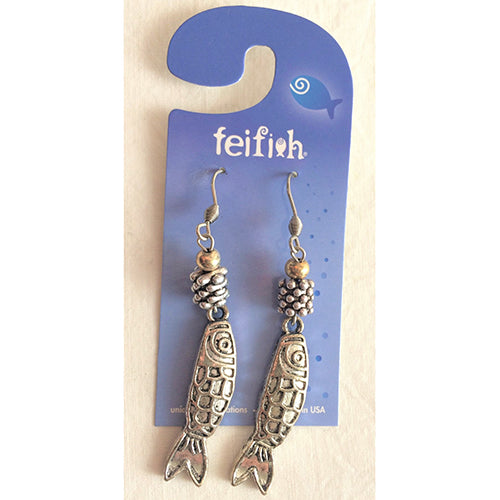 Flat Fish Earrings