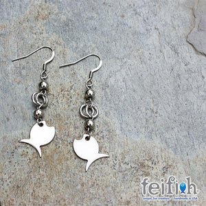 FF - stainless steel fish earrings