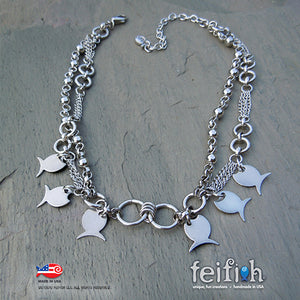 FF - stainless steel fish necklace