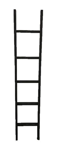 6' decorative ladder - BLACK