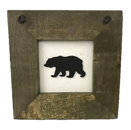 framed decal - BEAR
