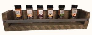 "Spice rack - sm -21""x5"" STAINED"