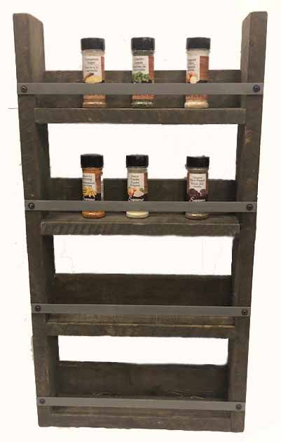"Spice rack - lg -17""x 32"" STAINED"