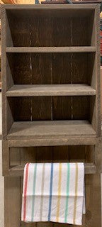 "t&p - rustic 3 shelf w/ hang bar NATURAL 16""x26""x4.5"""