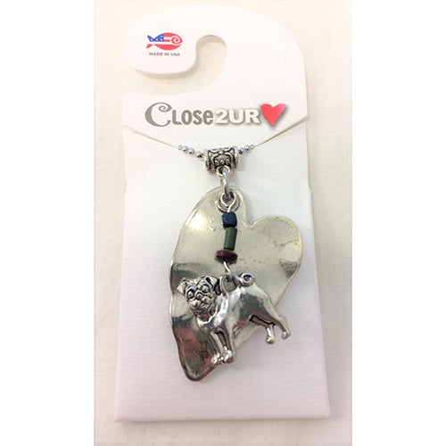 FF - necklace - pug - C2URH