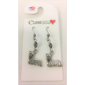 FF - earrings - yorkshire terrier - C2URH