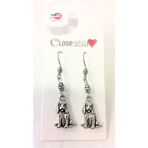 FF - earrings - beagle - C2URH