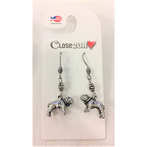 FF - earrings - bull dog - C2URH