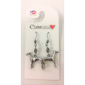 FF - earrings - grey hound - C2URH