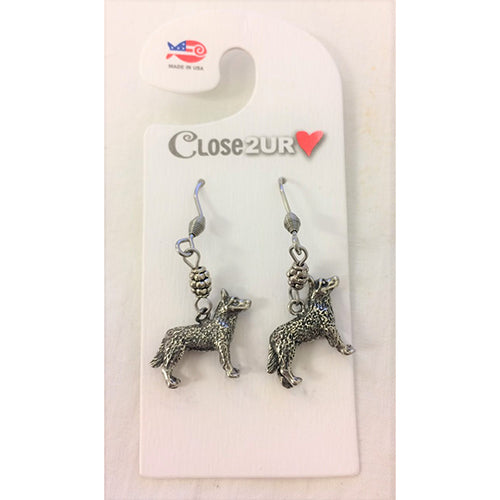 FF - earrings - husky - C2URH