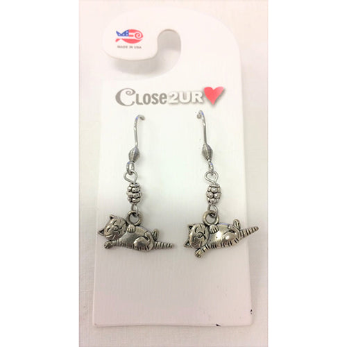 Sleeping Cat Earrings