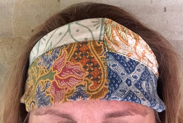 hairband - antique (patchwork) traditional batik - expandable - assorted