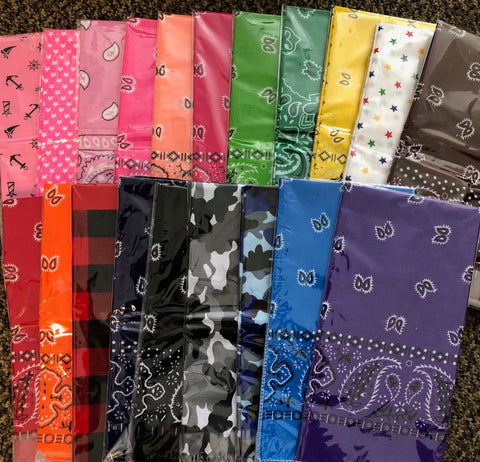 bandana - ASSORTED COLOURS
