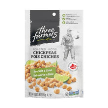 Load image into Gallery viewer, Three Farmers Roasted Chickpeas - Sea Salt & Lime