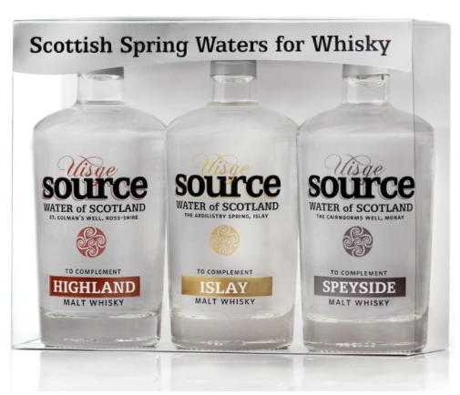 Uisge Source Water of Scotland - Gift set of 3