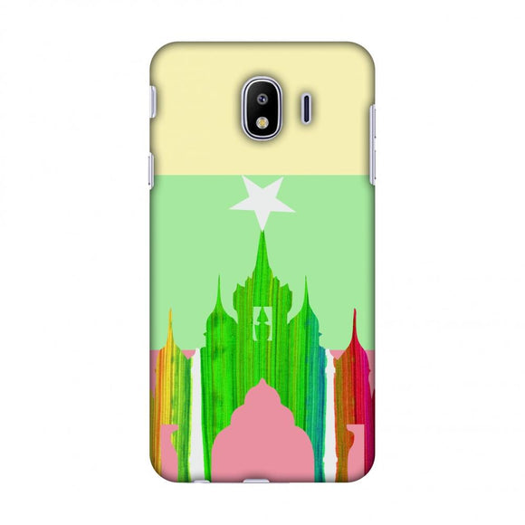 AnAnda Temple - Myanmar Flag Slim Hard Shell Case For Samsung Galaxy