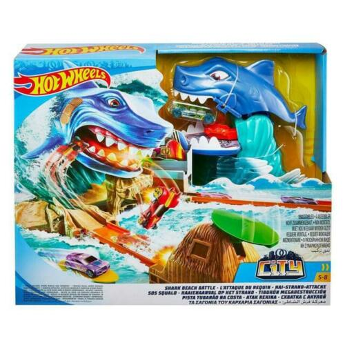 Hot Wheels FNB21 City Shark Beach Battle Play Set - Shop Market Deals