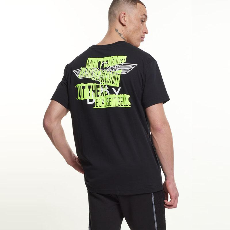 Boy Quote Tee - Black/Neon