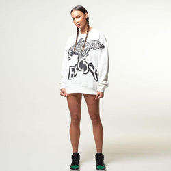BOY EAGLE LINEAR SWEAT - OFF WHITE/BLACK
