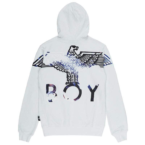 BOY LONDON HOODIES BOY EAGLE FLOCK HOODIE - WHITE