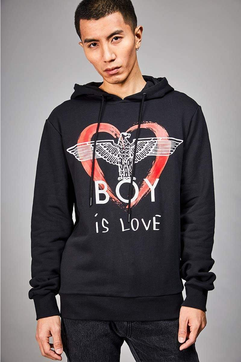 BOY LONDON HOODIES BOY IS LOVE HOODIE