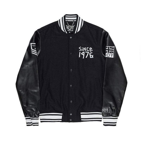 BOY LONDON JACKET BOY TAPE EAGLE SHORT VARSITY JACKET