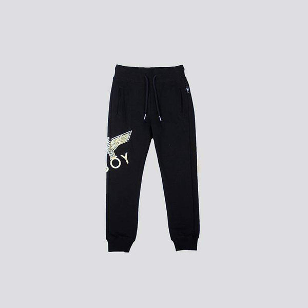 BOY LONDON KIDSWEAR 3-4 YEARS / BLACK/GOLD BOY EAGLE KIDS JOGGERS