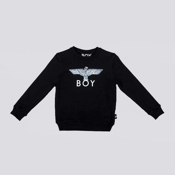 BOY LONDON KIDSWEAR 3-4 YEARS / BLACK/WHITE BOY EAGLE KIDS SWEATSHIRT