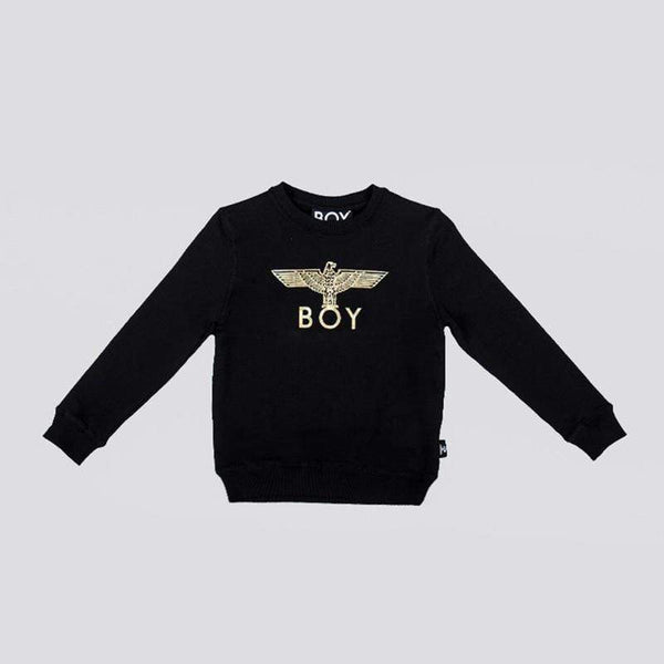 BOY LONDON KIDSWEAR 3-4 YEARS / BLACK/GOLD BOY EAGLE KIDS SWEATSHIRT