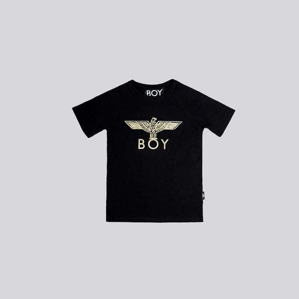BOY LONDON KIDSWEAR 3-4 YEARS / BLACK/GOLD BOY EAGLE KIDS T-SHIRT