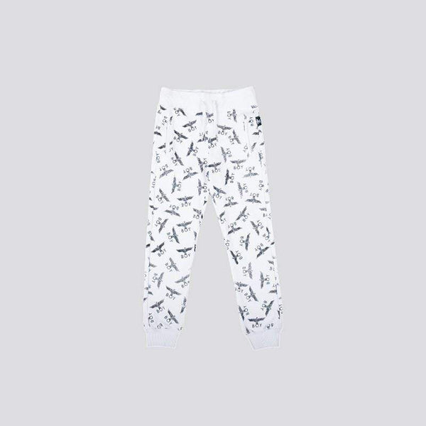 BOY LONDON KIDSWEAR 3-4 YEARS / WHITE/BLACK BOY EAGLE REPEAT KIDS JOGGERS