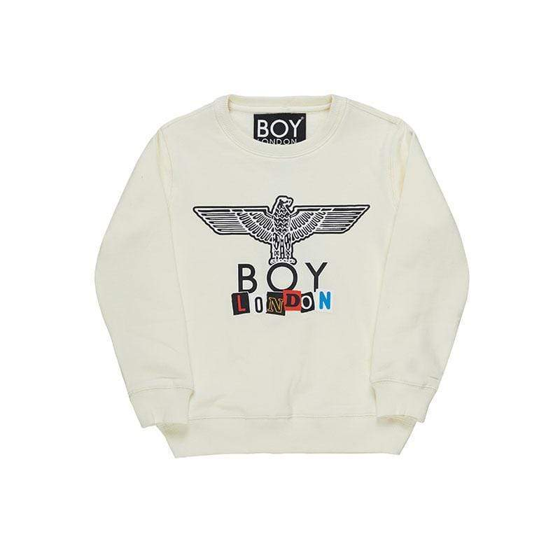 BOY LONDON KIDSWEAR 3-4 YEARS / OFF-WHITE BOY PLAY KIDS SWEATSHIRT