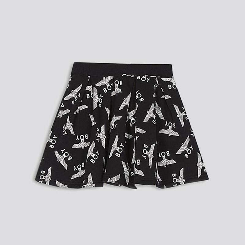boy-london-shop KIDSWEAR 3-4 YEARS / BLACK BOY KIDS REPEAT SKIRT
